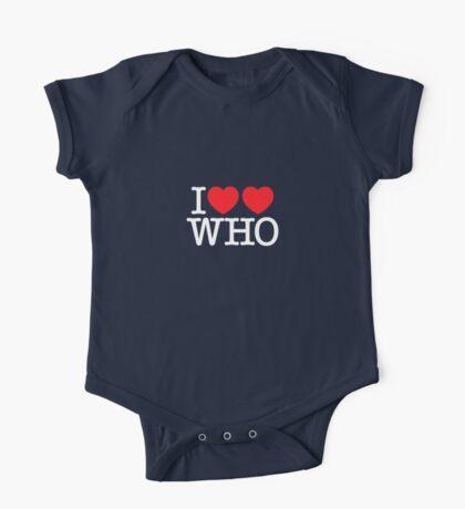 I ♥♥ WHO (dark) Kids Clothes
