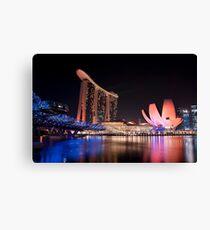 Marina Bay Skyline (Night) Canvas Print