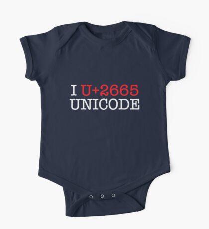 I U+2665 UNICODE (dark) Kids Clothes