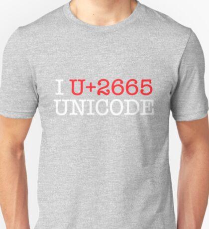 I U+2665 UNICODE (dark) T-Shirt