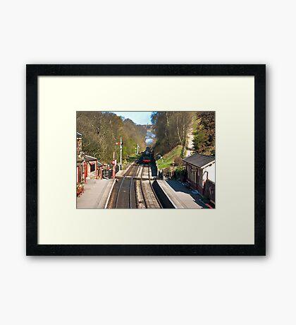 Approaching Goathland Station Framed Print