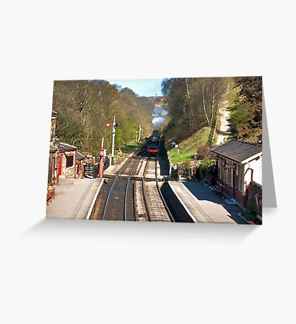 Approaching Goathland Station Greeting Card
