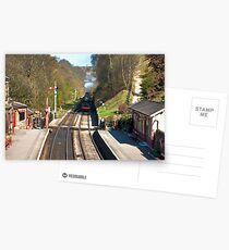 Approaching Goathland Station Postcards