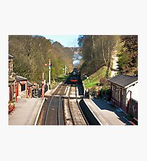 Approaching Goathland Station Photographic Print
