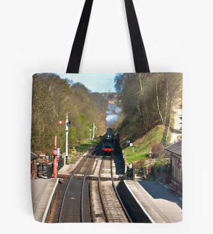 Approaching Goathland Station Tote Bag