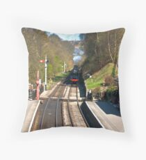 Approaching Goathland Station Throw Pillow