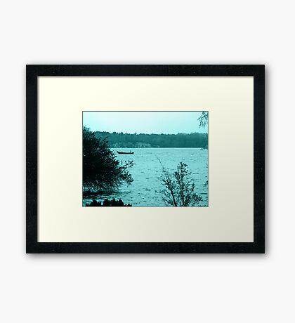 Fishing on the River Framed Print