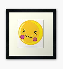 Cute emoticon Framed Print