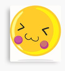 Cute emoticon Canvas Print