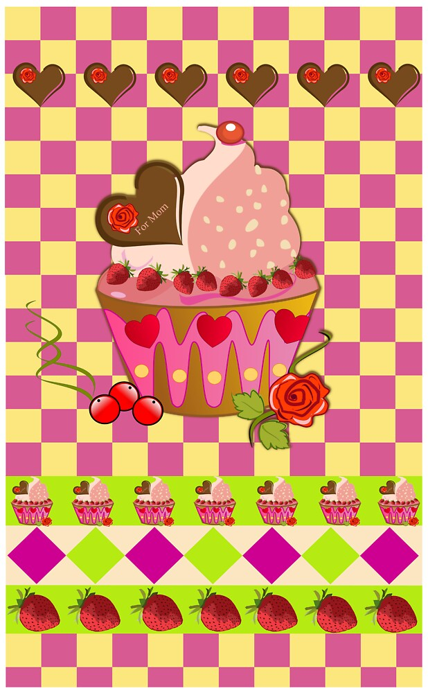 """""""For Mom"""" cupcake card by walstraasart"""