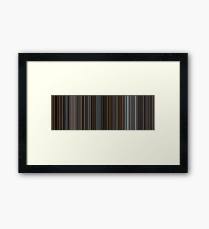 Moviebarcode: Inception (2010) [Simplified Colors] Framed Print