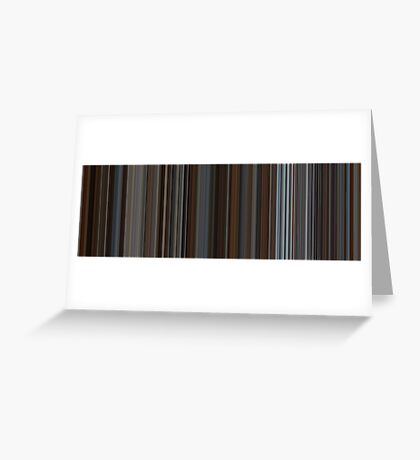 Moviebarcode: Inception (2010) [Simplified Colors] Greeting Card