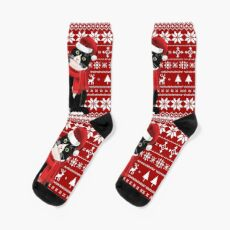 Meowy Ugly Christmas - Cat Lover Gifts Socks