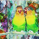 Rainbow Love Parrot Print Poster by Robert R by Robert  Erod