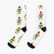 Avocado dances Christmas funny gift idea Socks