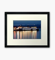 Washington State Ferry At Dusk Framed Print