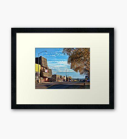 Downtown Columbia Falls (Montana, USA) Framed Print