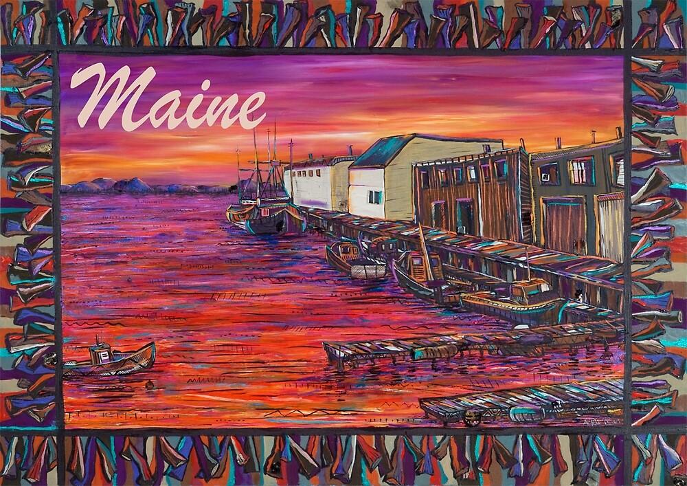 Portland Maine Fishing Pier by Angela Ferrari by ByFerrari