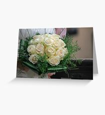 bride's bouquet Greeting Card