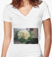 bride's bouquet Women's Fitted V-Neck T-Shirt