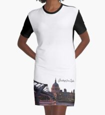 Greetings from London Graphic T-Shirt Dress