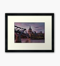 Greetings from London Framed Print