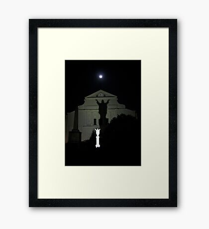 mysterious ways Framed Print