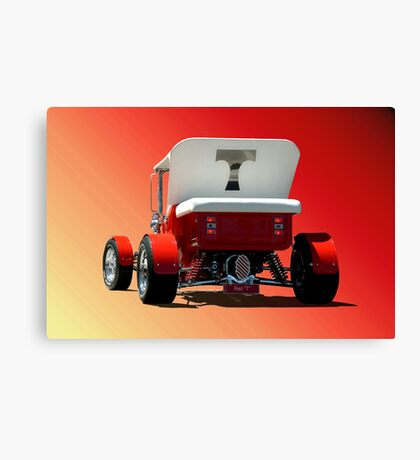 "Red ""T"" Bucket Canvas Print"