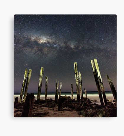 Port Willunga Stars Canvas Print