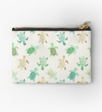 Gilded Jade & Mint Turtles Studio Pouch