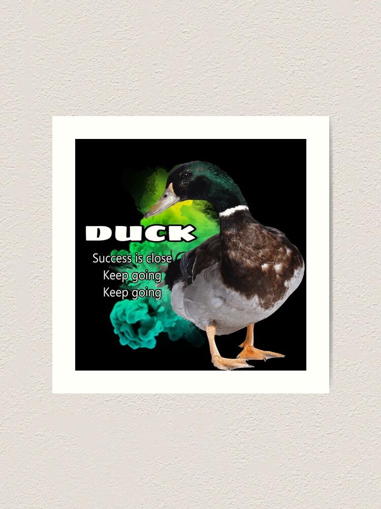 Alternate view of Duck symbolism Art Print