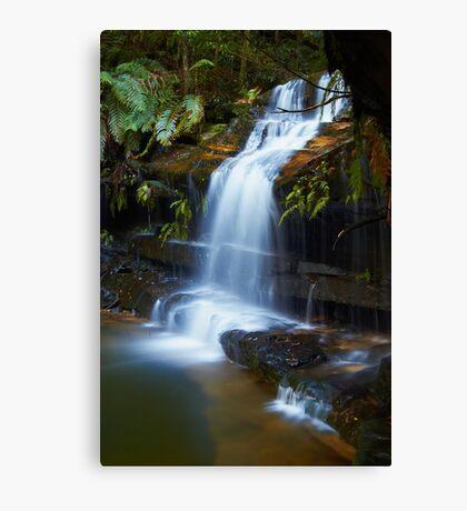 The Ledge - Terrace Falls  Canvas Print