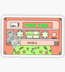 free time casette Sticker