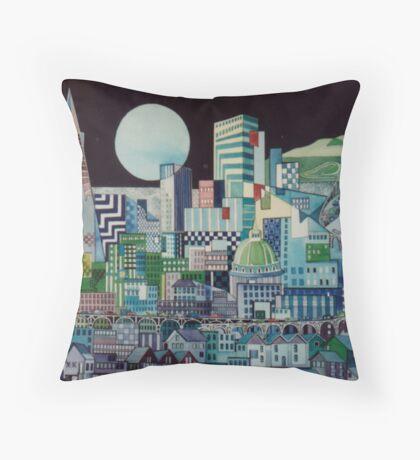 Night City Throw Pillow