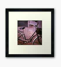 back alley, siem reap, cambodia Framed Print