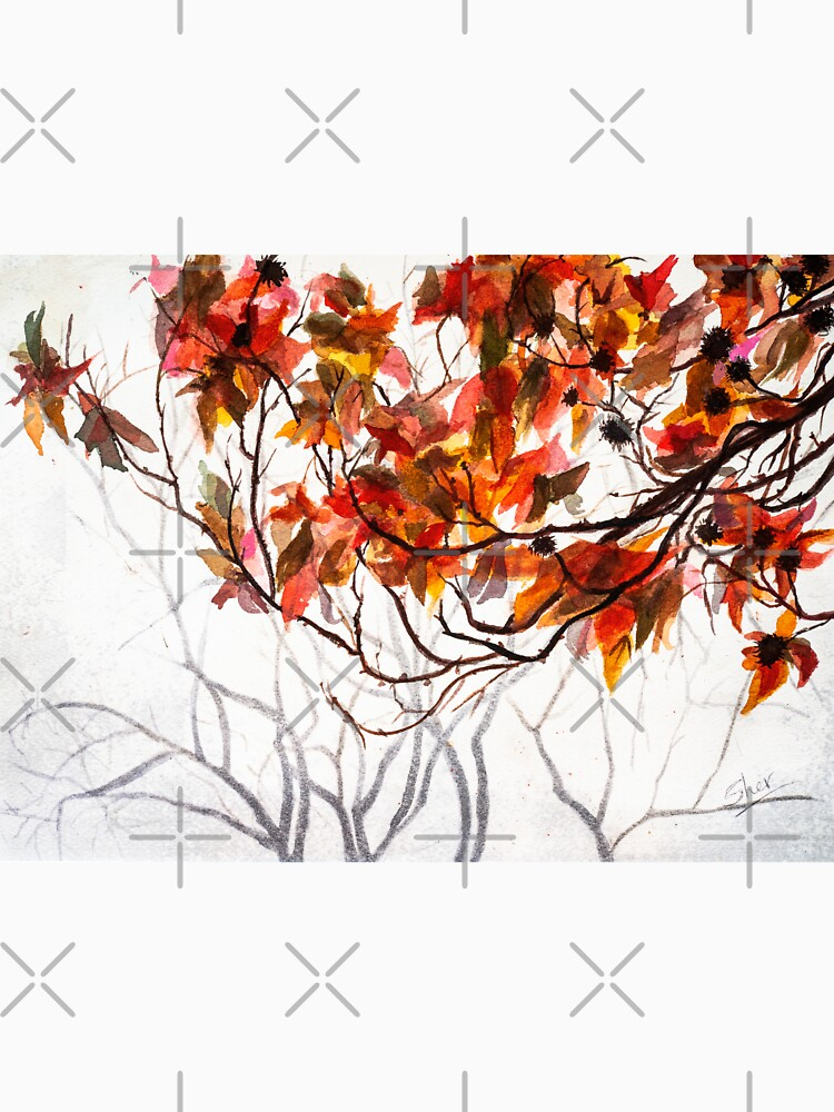Fall Leaves - Watercolor Art by shernasser