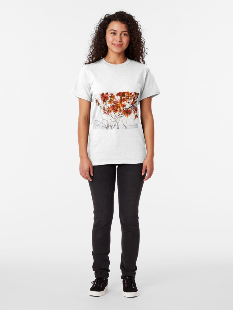 Alternate view of Fall Leaves - Watercolor Art Classic T-Shirt