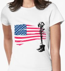 Fallen Soldier Womens Fitted T-Shirt