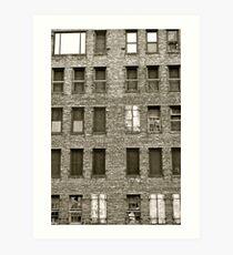 building blocks crumble Art Print