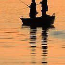 Fishing in Last Light by Kent Nickell