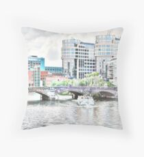 Berlin Boat Ride Throw Pillow