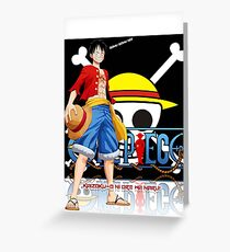 ONE PIECE LUFFY CASE Greeting Card