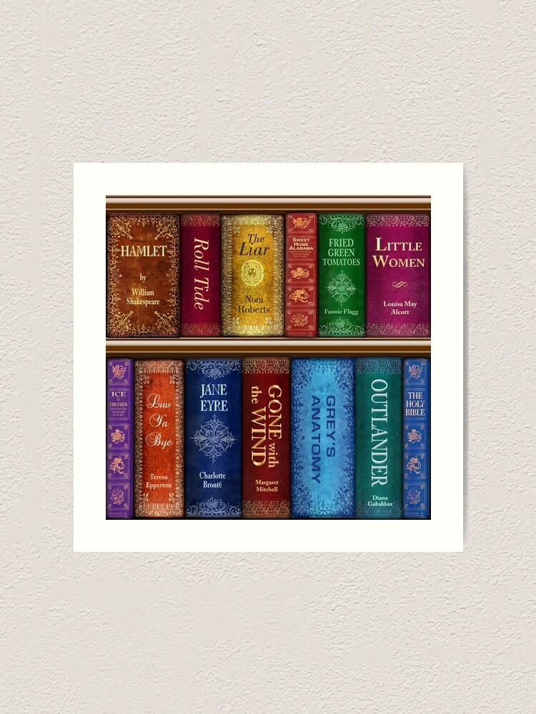 Alternate view of Teresa's Bookshelf Art Print