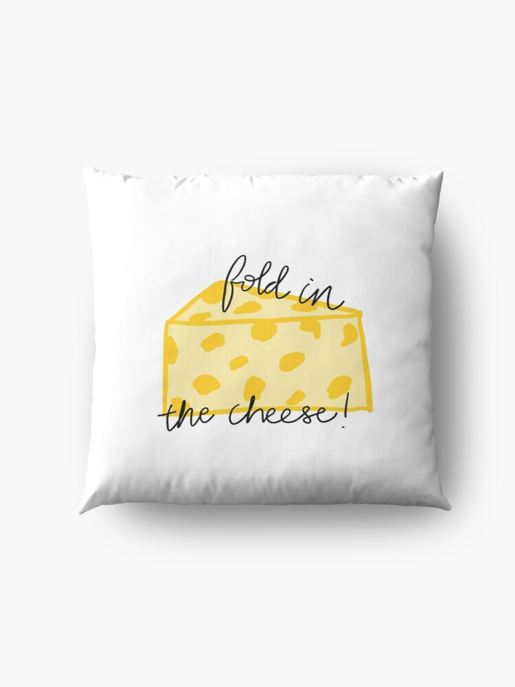Alternate view of Fold in the Cheese! Floor Pillow