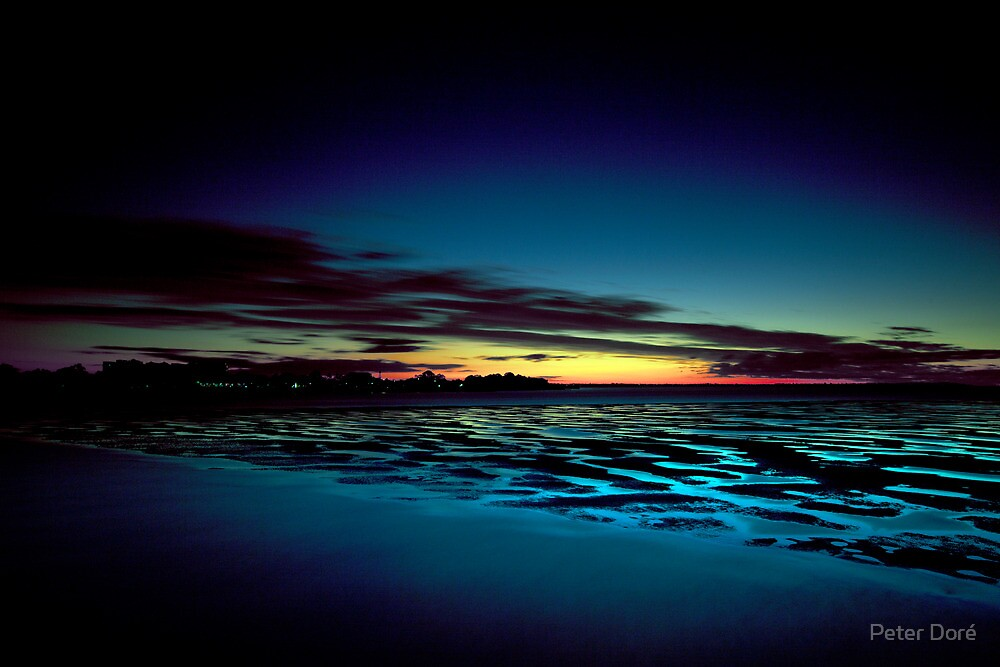 Hervey Bay in the Blue Hour by Peter Doré