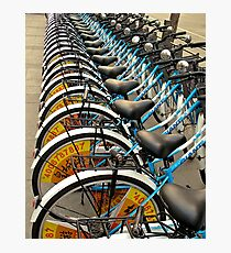 Bicycle Stacks-downtown Beijing Photographic Print