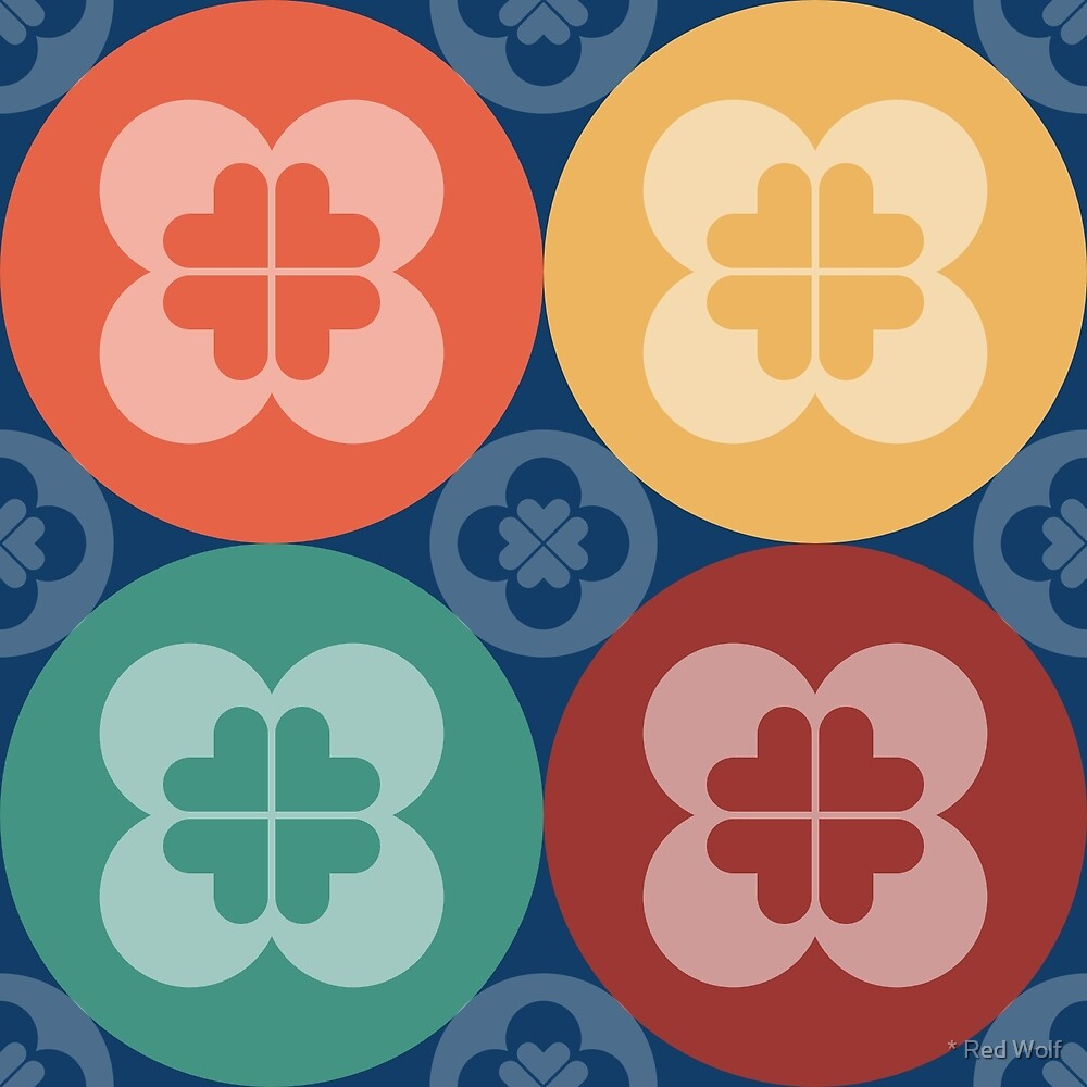 Geometric Pattern: Flower Circle: Market by * Red Wolf
