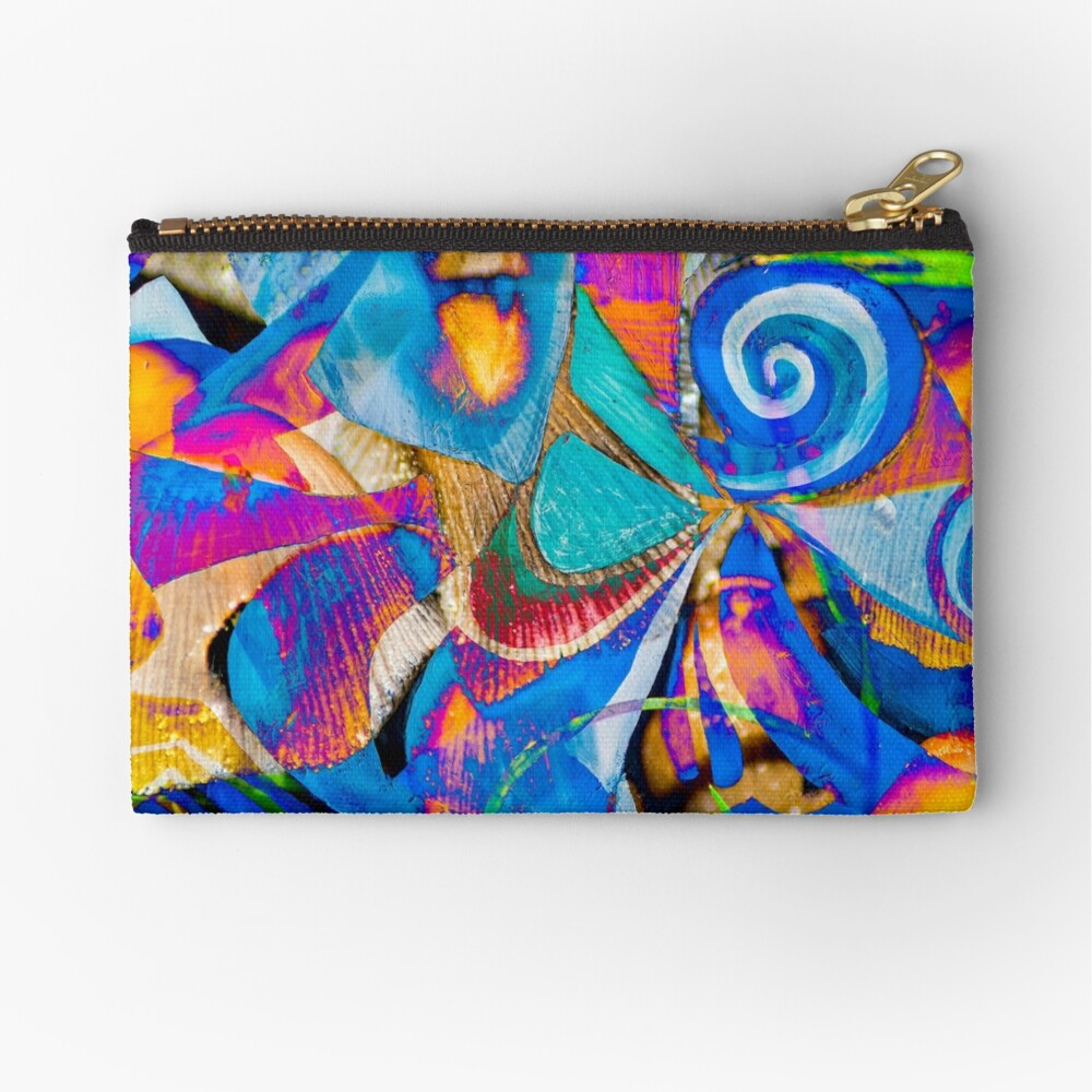 bright colors shapes abstraction Zipper Pouch