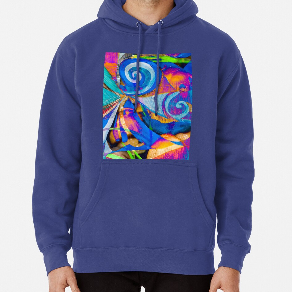 bright colors shapes abstraction Pullover Hoodie