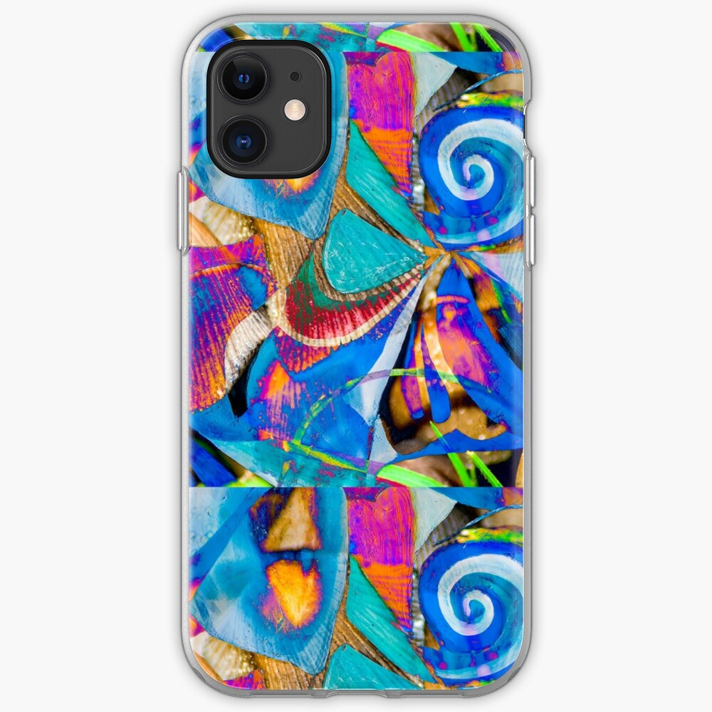 bright colors shapes abstraction iPhone Soft Case
